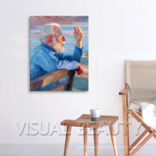 Pintura al óleo del retrato de la foto en lona