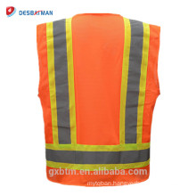 2018 New Day/Night ANSI Class 2 High Visibility Reversible Safety Vest Hi Vis Warm Work Wear Vests with 3M Reflective Tapes