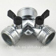 Conector Y de control de la válvula de zinc