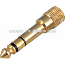 Daier Prix concurrentiel Gold Jack 6,35 MM Audio Jack