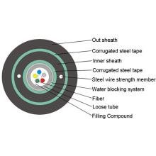 2/4/6/8/1012/Cores GYXTW Outdoor Single Mode Fiber Optic Cable