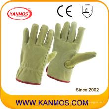 Industrial Safety Pig Split Drivers Leather Work Gloves (21202)