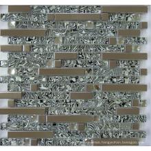 Glass Mix Metal Mosaic Tile (SM255)