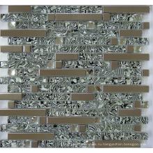 Стеклянная металлическая мозаичная плитка (SM255)