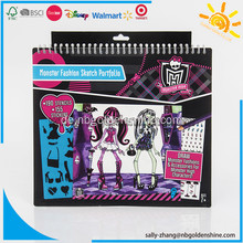 Monster High Sketch Zeichnung Portfolio Notebook