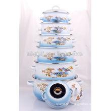 6 pcs enamelware swiss switzerland royalty line cookware