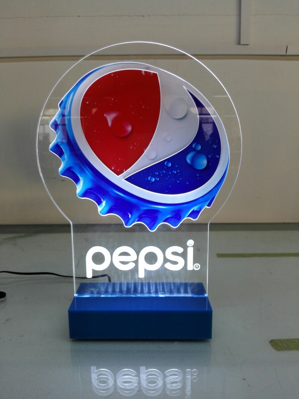 Pepsi cap led light sign