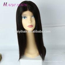 Cheveux humains brésiliens cuticule alignés cheveux pleine perruque sans colle perruque