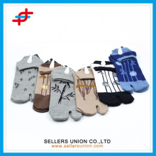 carton knitted comfortable cotton two ankle toe sock