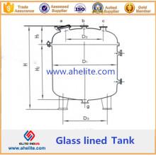 Depósito de almacenamiento alineado de vidrio vertical