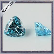 Aqua Trilliant forma de circonio cúbico sintético de piedras preciosas