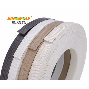 Wood-Grain PVC Matt Edge Banding untuk Furniture
