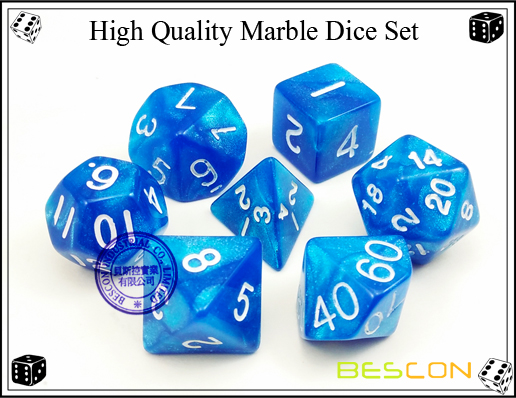 High Quality Marble Dice Set-3