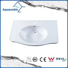 Grade a Polymarble Single Bowl Bathroom Sink Acb0807