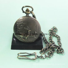Hot Sale Quartz Alloy Pocket Watch with Deer