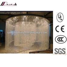 Modern Specially Hotel Decorative Large Spiral K9 Crystal Chandelier