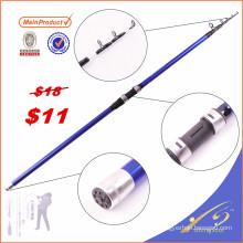 TSR070 venda grafite surf vara de pesca espaços em branco telescópica vara de pesca