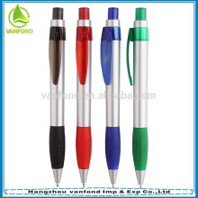 2015 free sample customized logo promotional plastic ballpoint pen with grip