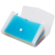 Comix portable mini file folder with handle 10 pockets Expanding File