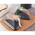 Triangle Mousse Cake Box Transparent Packaging Box