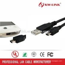 USB 2.0 Lead A Подключите к Mini B 5 pin3 Кабель для передачи данных Кабель питания Черный