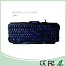 3 Farben verdrahtet USB Computer Spiel Tastaturen (KB-1901EL)
