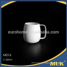 eurohome hotel Supplies durable white porcelain mug / ceramic mug-M016