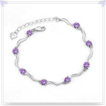 Crystal Jewelry Silver Bracelet 925 Stelring Silver Bracelet (SL0016)