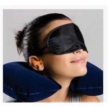 Oreiller d'oreiller de flocage d'air chaud d'aigus + oreiller de voyage de masque d'oeil avec des bouchons d'oreille