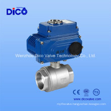 Stainless Steel 2PC Mounting Pad Ball Valve with Electric Actuator