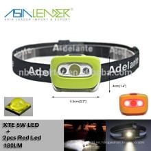 Cree 5W LED 100% Brillante -50% Brillante-2 LED Rojo-2 LED Rojo + CREE 5W LED Flash LED Luz de la Cabeza de bicicleta