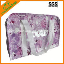 Whole sale laminated non woven tote bag with zipper