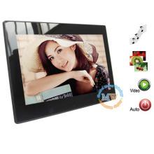 Quadro digital LCD de 10 polegadas com play mp3 / mp4 / slideshow / slideshow + música (modo BGM)