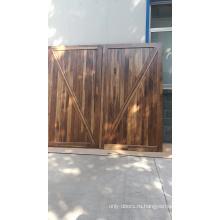 незаконченные межкомнатные двери из черного дерева