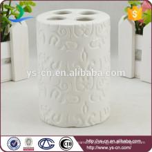 YSb50106-01-th suporte de escova de dentes em relevo branco