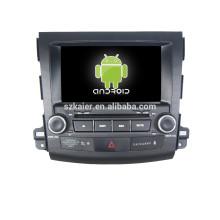 système de navigation audio de voiture de dvd pour mitsubishi outlander, Bluetooth, AIRPLAY, MIROIR-CAST, DVR, jeux, double zone, contrôle de volant