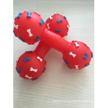 Dog Vinyl Barbell Toy, Pet Toy