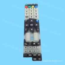 Clavier en caoutchouc de silicone d'impression d'écran en soie fait sur commande
