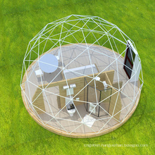 6-30M outdoor Transparent PVC Steel Pipe geodesic glamping dome house  Igloo tent