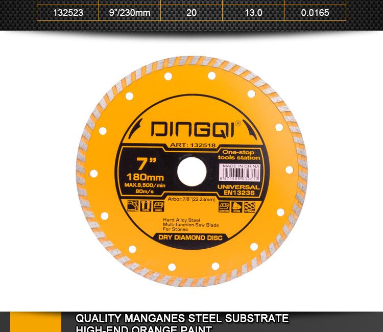 DingQi Outils d'asphalte pour lame de scie diamantée en granit de haute qualité pour carrelage en marbre