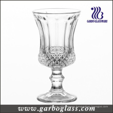 Footed Engraved Glass Cup (GB040304ZS)