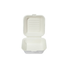 Takeaway Food Grade Disposable Sugarcane Bagasse Clamshell Containers