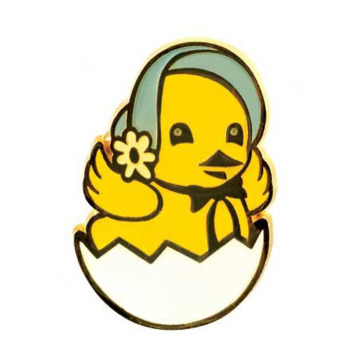 A Chirping Chick Welcomes Easter Lapel Pin
