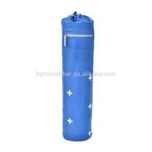 Custom silk printing yoga mat canvas backpack bag