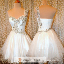 Vestido de coctel del partido del Organza de los granos de princesa Gown Beads Organza del vestido del baile de fin de curso de la nueva llegada 2016