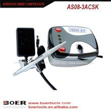 Airbrush mini compressor kit prego pintura mini compressor