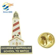 Promotion Fashion Wholesale Custom Metal Tower Lapel Pins Badge Emblem