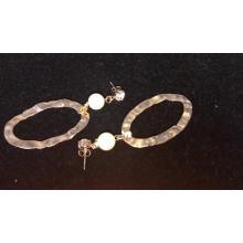 Wholesale New Fancy Luxury Jewelry Fashion Pearl Gold Earring Pendant Earring for Women