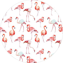 Venta al por mayor Flamingo Round Beach Towel