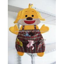 Lovely Kids Plush Dog Juguetes colgantes de bolsillo de almacenamiento organizador